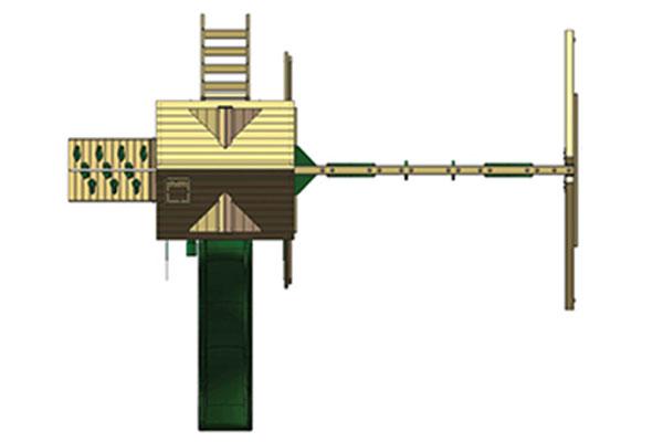 Схема деревянной площадки Зелёный замок
